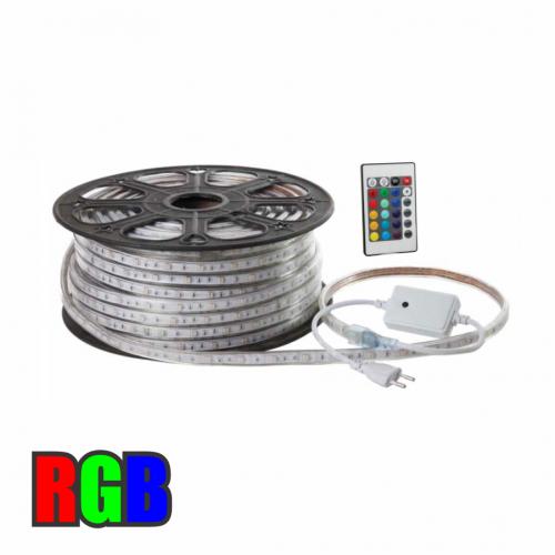 FITA LED RGB 220V 5050 ROLO 50m IP68