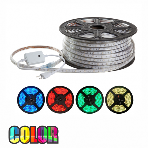 FITA LED COLOR 220V 5050 ROLO 50m IP68